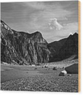 Clarks Fork Canyon Interior Bw 1 Wood Print