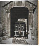 Clarks Trading Post Train Wood Print