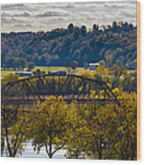 Clarksville Railroad Bridge Wood Print