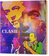 Clash Know Your Rights Wood Print