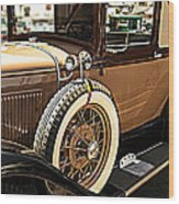 Classic 1928 Ford Model A Sport Coupe Convertible Automobile Car Wood Print
