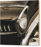 Classic '57 Chevy Bel Air In Sepia  Wood Print