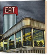Classic American Diner Wood Print by Diane Diederich