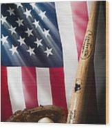 Classic Americana Wood Print