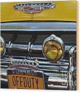 Classic New York City Cab - Detail Wood Print