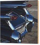 Classic Black Cadillac Wood Print