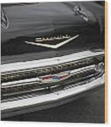 Classic Black Chevy Wood Print