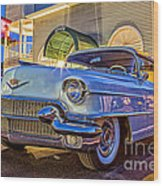 Classic Blue Caddy At Night Wood Print
