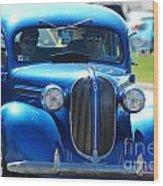 Classic Blue Wood Print