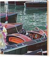 Classic Boats In Lake Tahoe Wood Print