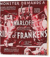 Classic Bride Of Frankenstein Poster Wood Print