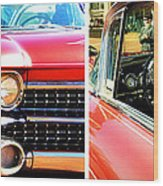 Classic Caddy Inside And Out Wood Print