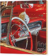 Classic Cadillac Beauty In Red Wood Print