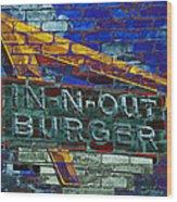 Classic Cali Burger 2.2 Wood Print
