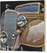 Classic Car - 1935 Buick Victoria Wood Print