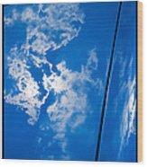 Classic Car Blue - 09.20.08_330 Wood Print