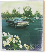 Classic Car Family Outing Wood Print