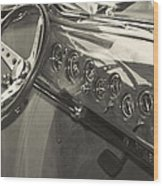 Classic Car Interior Wood Print