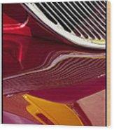 Classic Car Red - 09.19.09_354 Wood Print