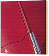 Classic Car Red - 09.20.08_456 Wood Print