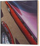 Classic Car Reflection - 09.20.08_155 Wood Print