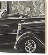 Classic Car Show Wood Print