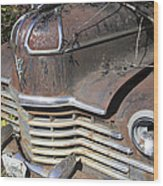 Classic Car With Rust Wood Print