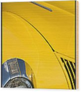 Classic Car Yellow - 09.20.08_471 Wood Print