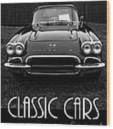 Classic Cars Front Cover Wood Print