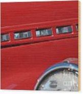 Classic Chevy Design Wood Print