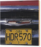 Classic Chevy In Cuba Wood Print