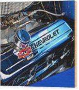 Classic Chevy Power Plant Wood Print