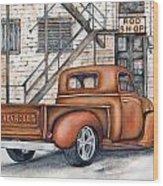 Classic Chevy Pu Wood Print