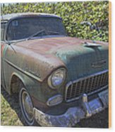 Classic Chevy With Rust Wood Print