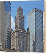 Classic Chicago -  The Jewelers Building Wood Print