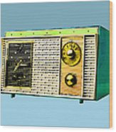 Classic Clock Radio Wood Print