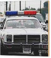 Classic Cop Car Wood Print