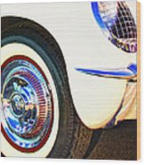 Classic Corvette Palm Springs Wood Print