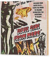 Classic Devil Girl From Mars Poster Wood Print