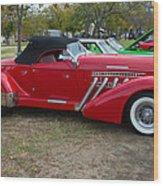 Auburn 1936 Roadster Classic Elegance Wood Print