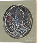 Classic Engine Orb Abstract Wood Print