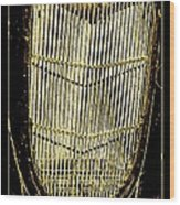 Classic Gold Grill Wood Print
