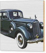 Classic Green Packard Luxury Automobile Wood Print