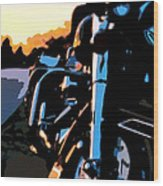 Classic Harley Wood Print