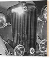 Classic Mg Roadster Motor Car Wood Print