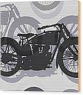 Classic Motorcycle  Wood Print by Daniel Hagerman
