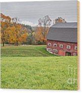 Classic New England Fall Farm Scene Wood Print