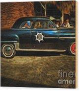 Classic Police Car Wood Print