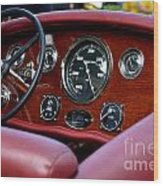 Classic Race Boat Dash Wood Print