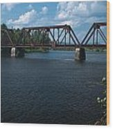 Classic Rail Bridge Wood Print